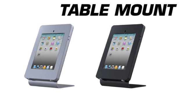 iPillar iPad Stand Locking Enclosure for Table Mounting bracket